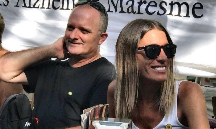 Toni Albà, amb Míriam Nogueras, dissabte passat a Mataró. Foto: Junts x Mataró