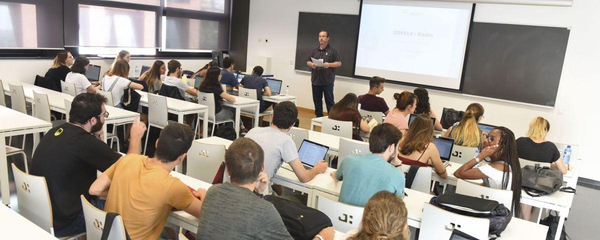 Una aula del TecnoCampus. Foto: R.Gallofré