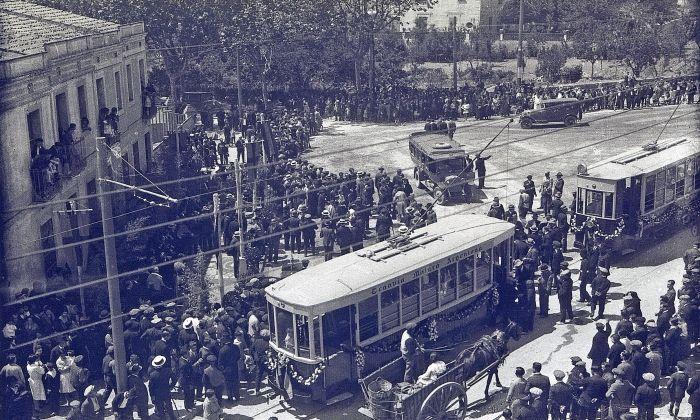 Inauguració del Tramvia, l'any 1928
