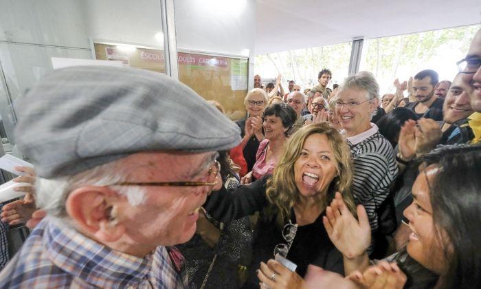 Votants l'1-O a Mataró. Fotografies: Romuald Gallofré