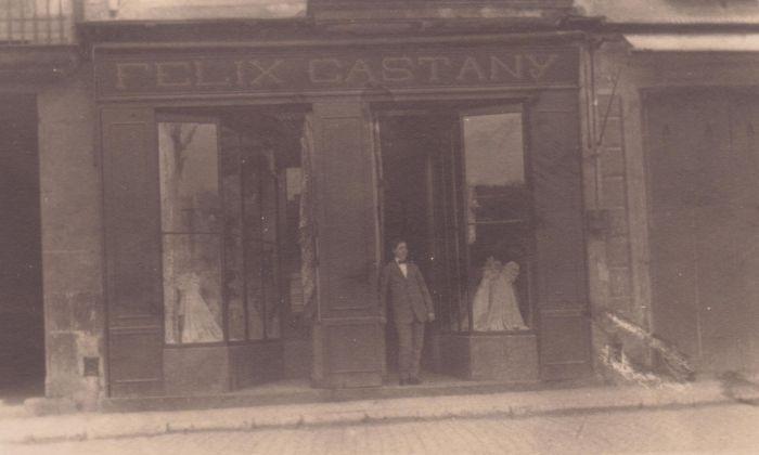 Una fotografia històrica de la botiga.