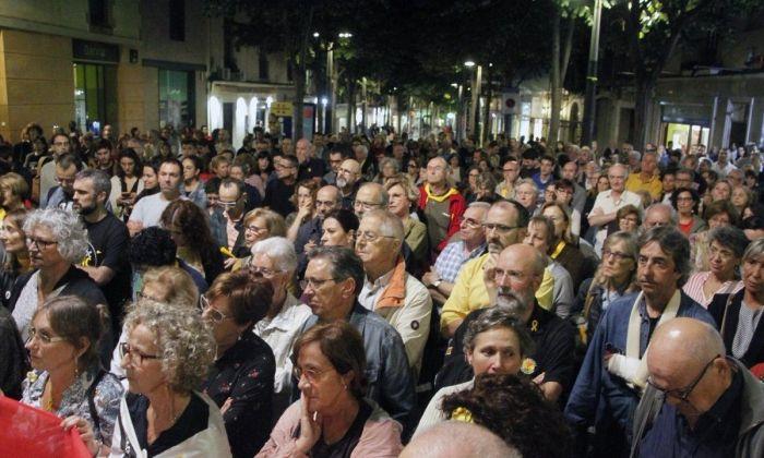 Un moment de la concentració. Fotos: ANC Mataró