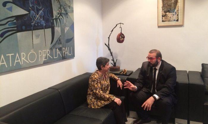 L'alcalde i la delegada del govern. Foto: Ajuntament de Mataró
