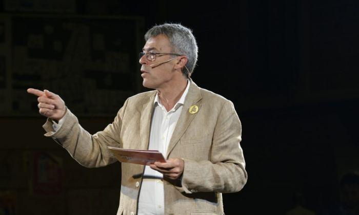 Teixidó, durant l'acte. Foto: ERC