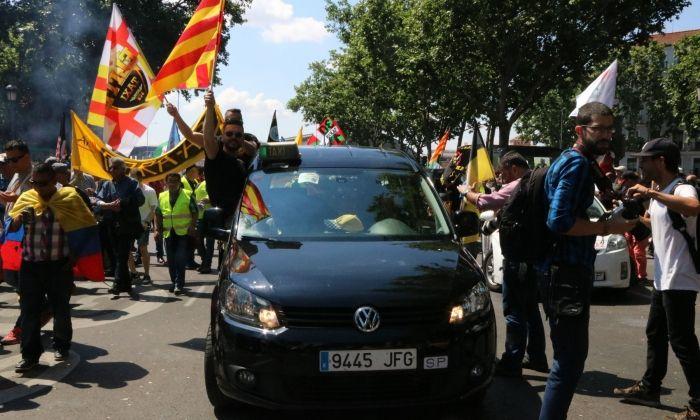 Protestes del sector del taxi, l'any 2017. Foto: ACN