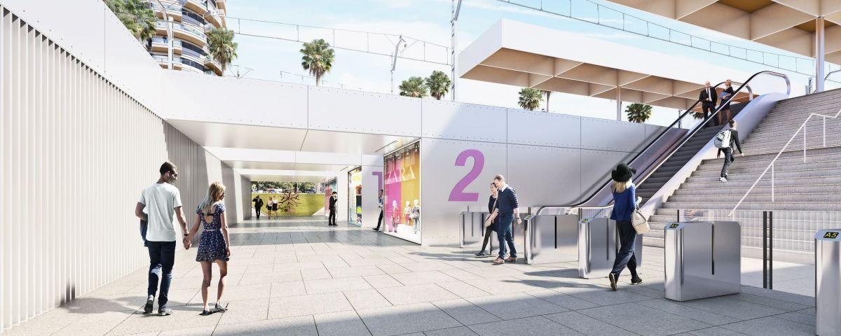 Proposta de nova estació en la seva entrada per Ronda Barceló. Foto:  Imatge: Opalus Arquitectura