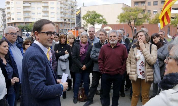 L'alcalde de Dosrius, Marc Bosch, davant dels jutjats de Mataró. Foto: ACN