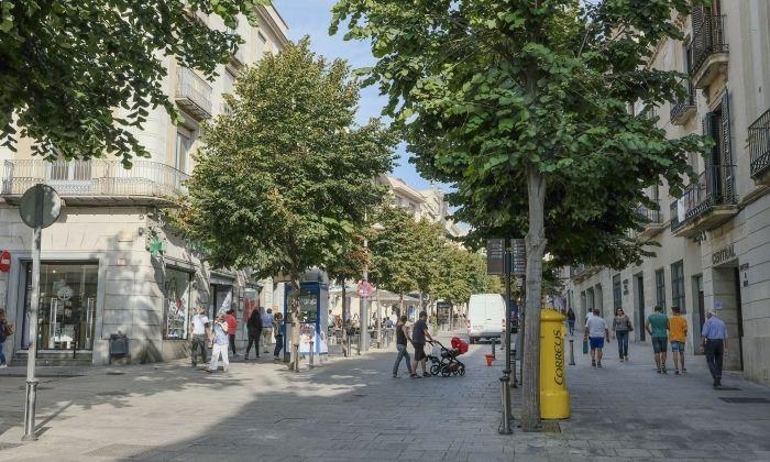 La Riera de Mataró, una de les artèries de la ciutat