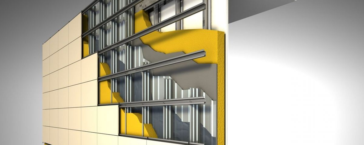 Exemple de façana ventilada.