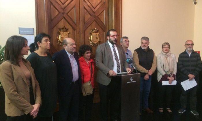 Lectura de la declaració. Foto: Ajuntament de Mataró.