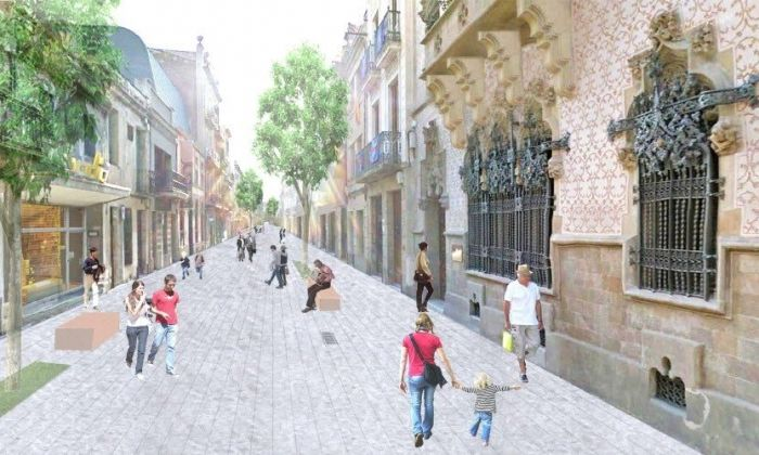 El carrer d'Argentona per a vianants. Infografia de Jordi Henrich Monràs