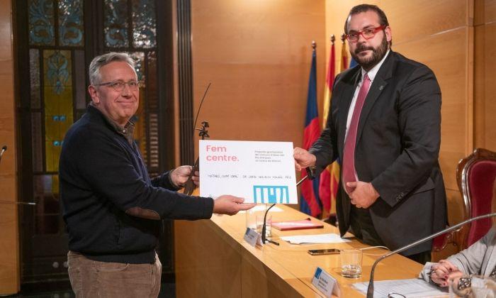 El guanyador del concurs d'idees. Foto: Ajuntament de Mataró