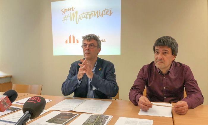Roda de premsa d'ERC. Foto: S.F.