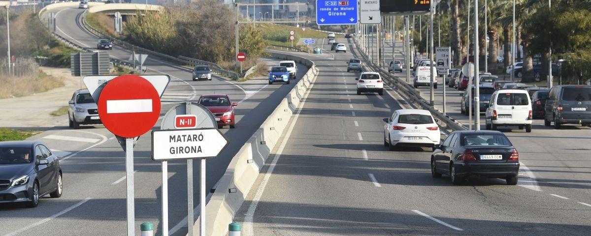 La carretera N-II a Cabrera de Mar. Fotos. R. Gallofré