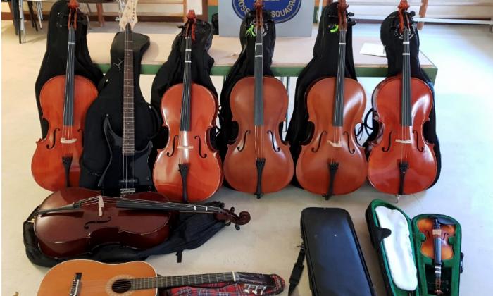 Els instruments robats. Foto: Mossos