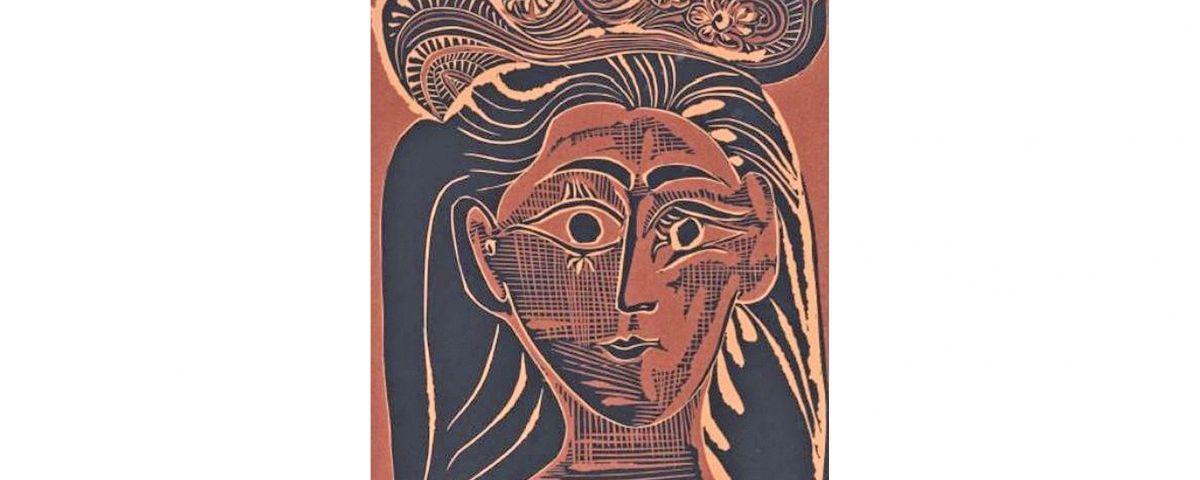 Una de les obres de la mostra 'Chapeau! De Casas i Picasso a Balenciaga i Pertegaz'