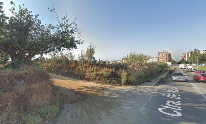 A l'esquerra, el camí de sorra on s'ha produit l'accident.