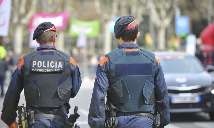 Mossos a Mataró. Foto: R. G.
