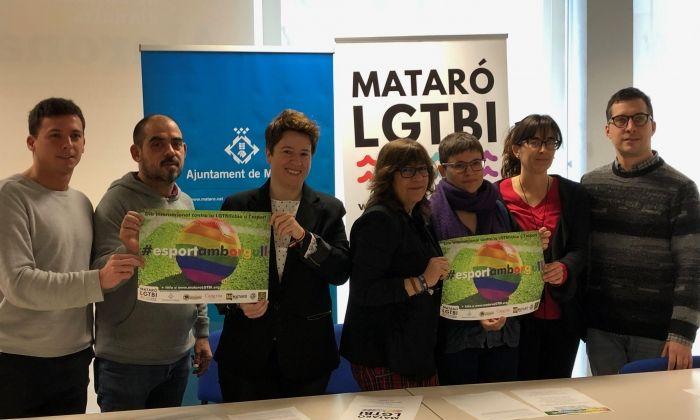 Presentació de la campanya contra la LGTBIfòbia a l'esport.