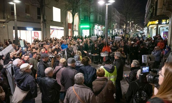La manifestació veïnal. Foto: R. G.