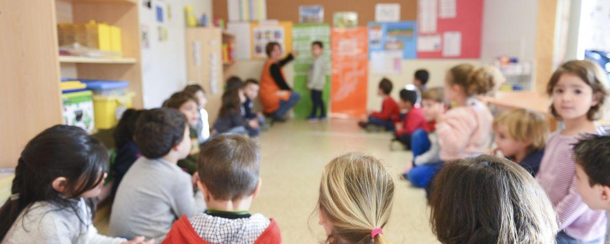 Una aula a Mataró. Foto. R. G.