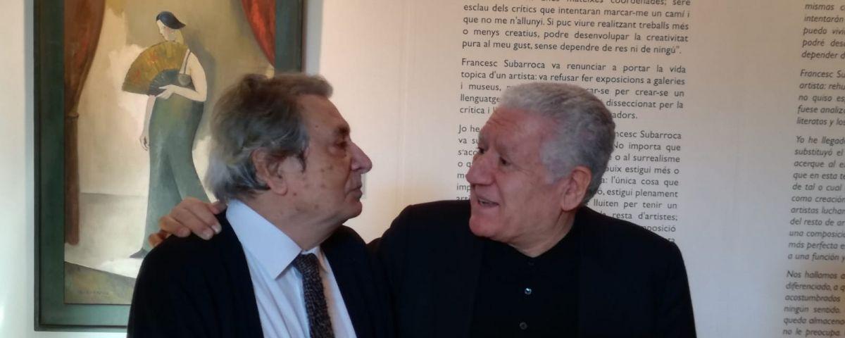 Francesc Subarroca (esquerra) amb Lluís Bassat