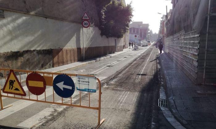 Reasfaltat del carrer Churruca. Foto: V. B.