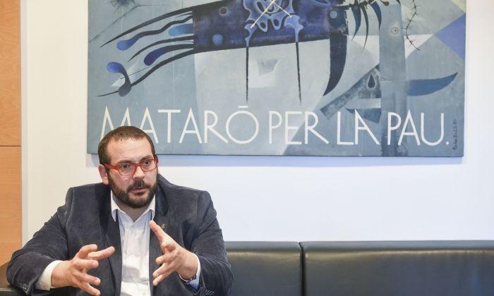 Bote, durant l'entrevista amb Capgròs. Foto: R. G.