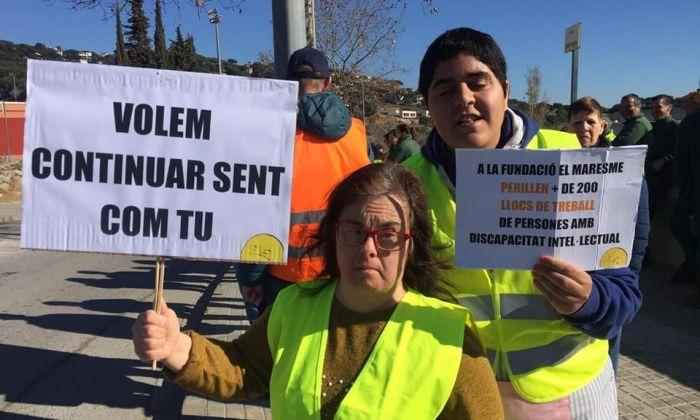 Un moment de la manifestació de la Fundació Maresme