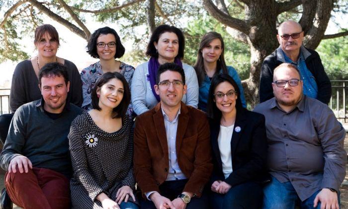 La candidatura, amb Sergi Morales i Sarai Martínez. Foto: Cedida