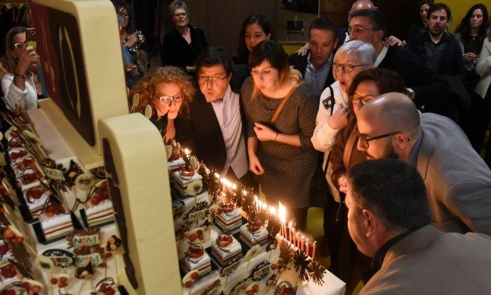 40 anys d'Unió de Botiguers de Mataró celebrats en una festa a la Nau Gaudí.