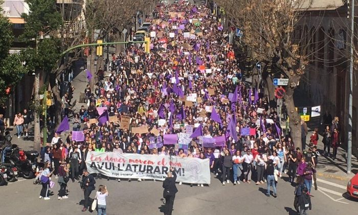Imatge de la manifestació. Foto: Comitè de Vaga Feminista de Mataró