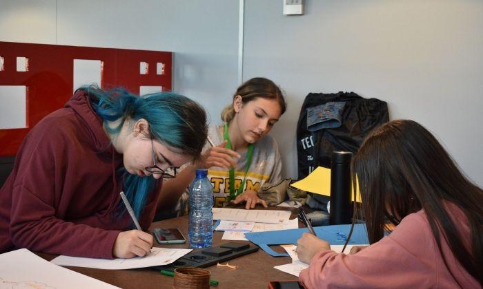 Tres de les participants. Foto: TecnoCampus