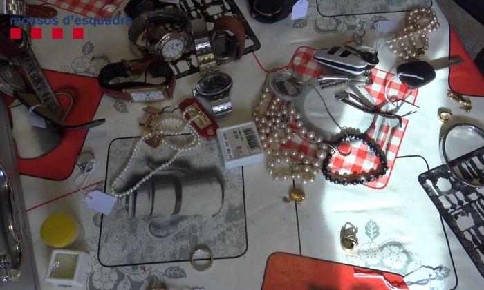 Part del material incautat. Foto: Mossos