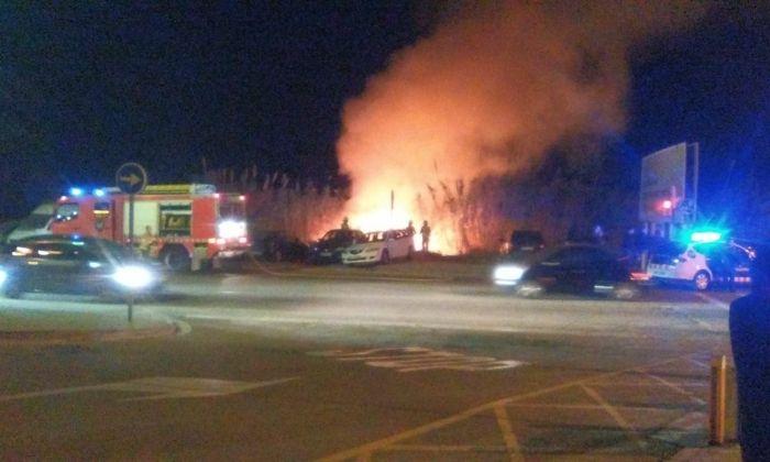 Incendi diumenge passat a les Cinc Sènies. Foto: Cedida