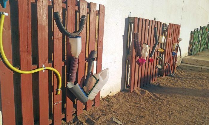 La instal·lació creada pels alumnes que va patir desperfectes