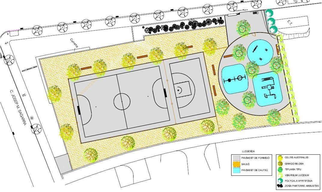 Plànol de la nova zona d'esbarjo de Figuera Major. Foto: Ajuntament