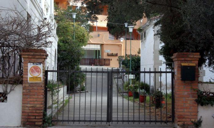 La porta d'accés del centre geriàtric Itaca d'Arenys de Mar. Foto: ACN