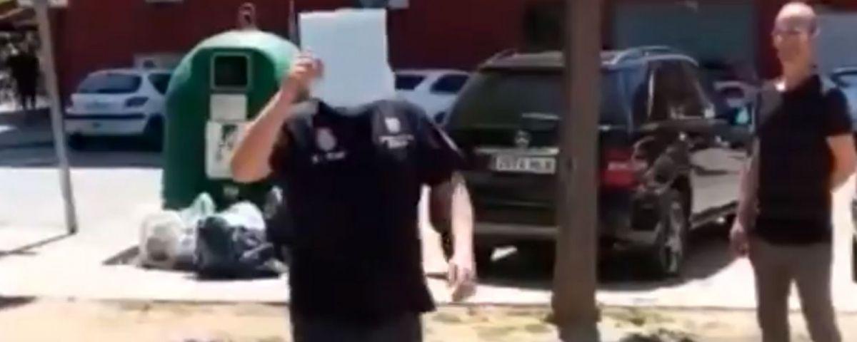 Fragment del vídeo on es veu la presumpta agressió. Unitat per Argentona