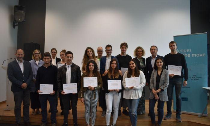 Els alumnes premiats. Foto: TecnoCampus