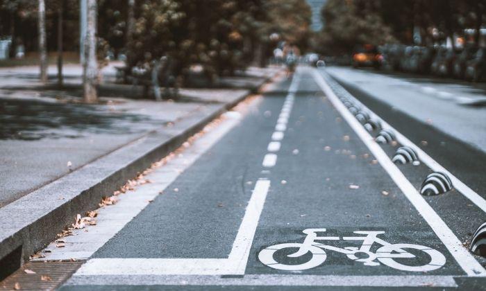 Imatge d'arxiu d'un carril bici