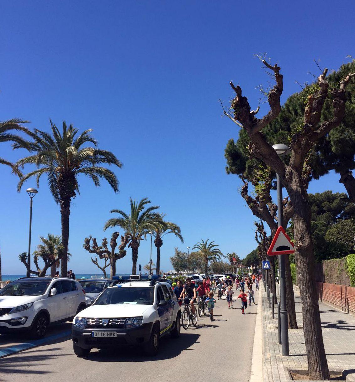 Bicicletada popular a Caldetes