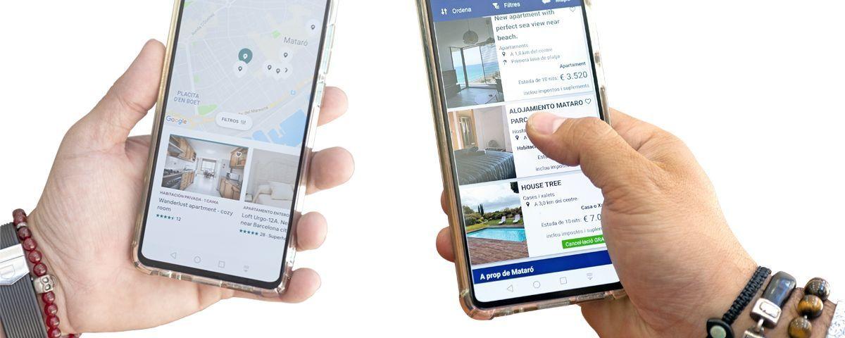 La majoria de pisos es troben a través de webs i apps