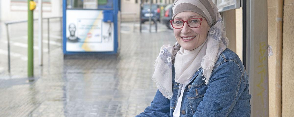Soraya El Farhi, al barri de Rocafonda. Fotos: R. Gallofré