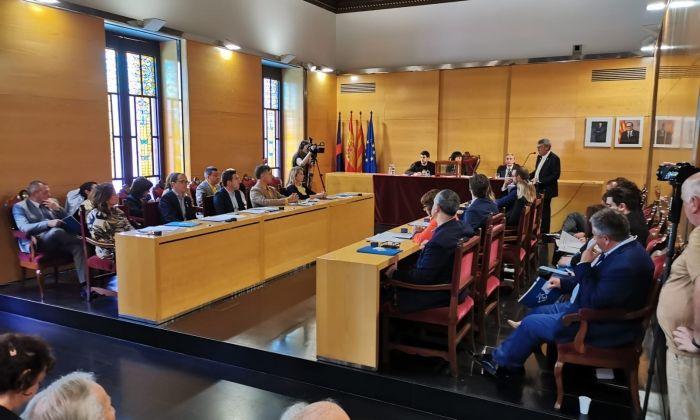 El Ple de constitució del nou ajuntament. Foto: R.G.
