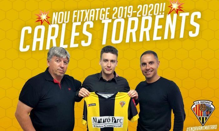 Carles Torrents, nou fitxatge del Mataró. Foto: CE Mataró.