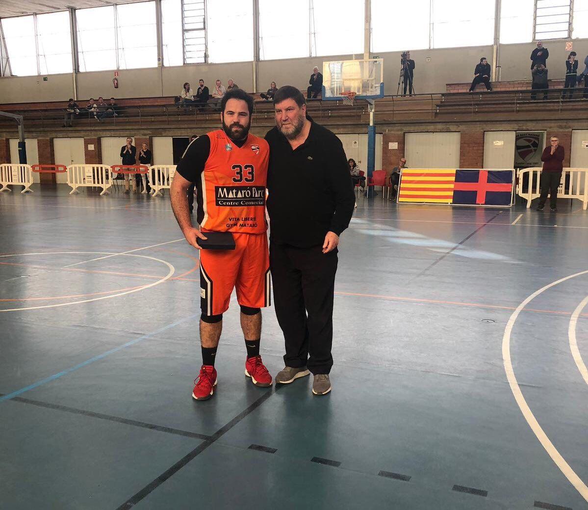 Navarro en l'adéu del jugador Marc Forcada.