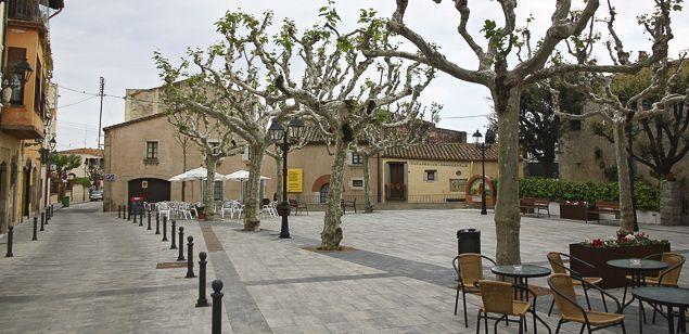 Imatge del poble de Sant Vicenç de Montalt