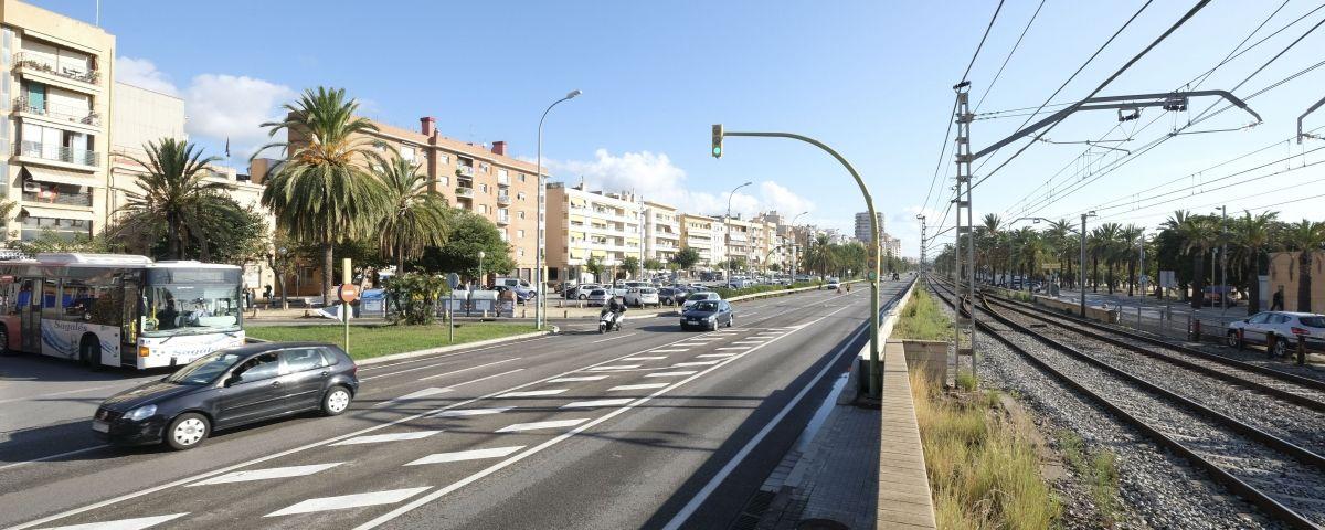 La Nacional II al seu pas per Mataró
