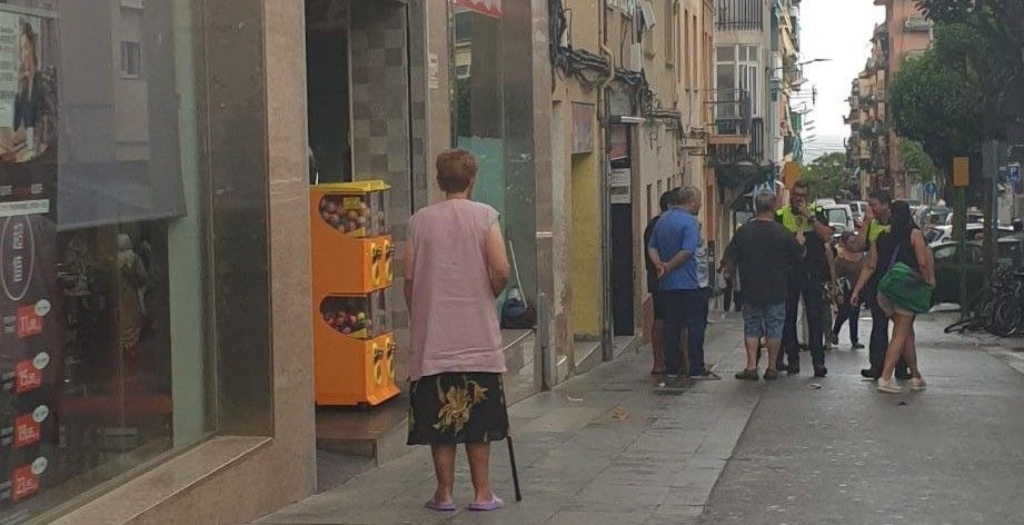 El carrer Roselló poc després de l'incident. Foto: Cerdanyola Directo.